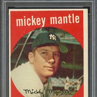 1959 TOPPS 10 MICKEY MANTLE PSA EX-MT 6 coin