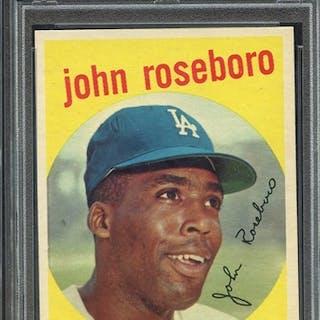 1959 TOPPS 441 JOHN ROSEBORO PSA NM-MT 8 coin