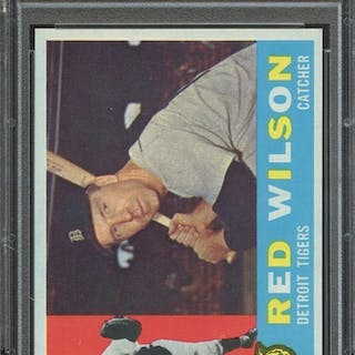 1960 TOPPS 379 RED WILSON PSA NM-MT 8 coin