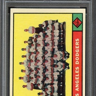 1961 TOPPS 86 DODGERS TEAM PSA NM-MT+ 8.5 coin