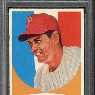 1961 TOPPS 219 GENE MAUCH PSA NM-MT+ 8.5 coin