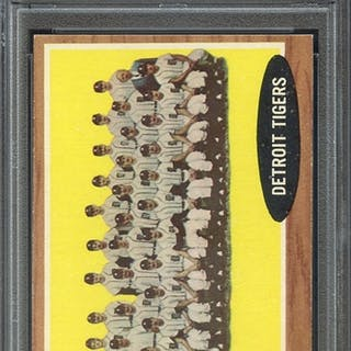 1962 TOPPS 24 TIGERS TEAM PSA EX-MT 6 coin