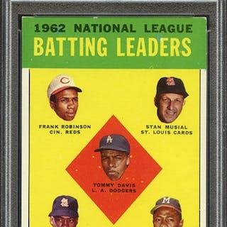 1963 TOPPS 1 NL BATTING LEADERS PSA EX-MT 6 coin