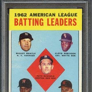 1963 TOPPS 2 AL BATTING LEADERS PSA EX-MT 6 coin