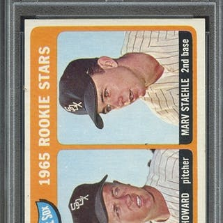 1965 TOPPS 41 WHITE SOX ROOKIES B.HOWARD/M.STAEHLE PSA NM-MT 8 coin