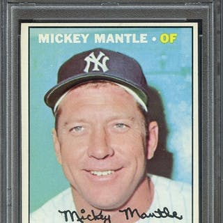 1967 TOPPS 150 MICKEY MANTLE PSA EX-MT 6 coin