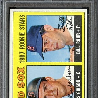 1967 TOPPS 547 RED SOX ROOKIES R.GIBSON/B.ROHR PSA NM-MT 8 coin