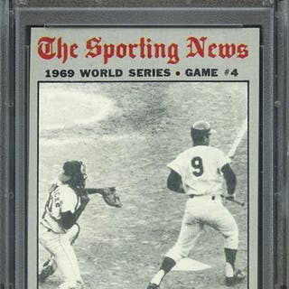 1970 TOPPS 308 WORLD SERIES GAME 4 MARTIN'S BUNT ENDS... PSA NM-MT 8 coin