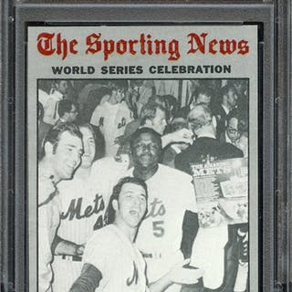 1970 TOPPS 310 WORLD SERIES CELE. METS WHOOP IT UP! PSA NM-MT 8 coin
