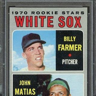 1970 TOPPS 444 WHITE SOX ROOKIES B.FARMER/J.MATIAS PSA NM-MT 8 coin