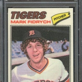 1977 TOPPS CLOTH STICKERS 15 MARK FIDRYCH CLOTH STICKERS PSA NM-MT 8 coin