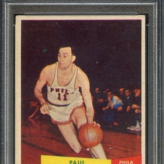 1957 TOPPS 10 PAUL ARIZIN PSA NM 7 coin