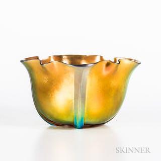 Steuben Gold Aurene Bowl