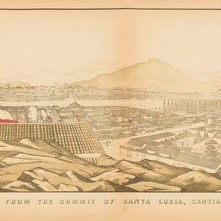 South America.- Chile.- Smith (Edmond Reuel) Panoramic View from the