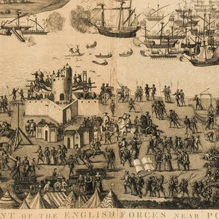 Portsmouth.- Basire (James) The Encampment of the English Forces near