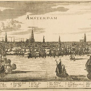 Netherlands.- Amsterdam.- Merian (Matthaeus) Amsterdam, engraving