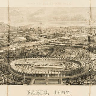 Paris.- Illustrated London News (The) Four Panoramic views of Paris