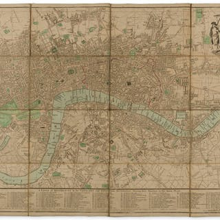 London.- Bowles & Carver Bowles's One-Sheet Plan of the Cities of