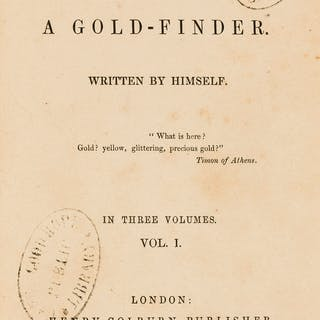 California and Australia gold rush.- Adventures of a Gold-Finder.