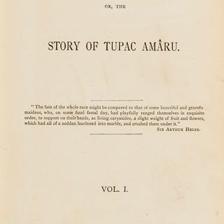 Tupac-Amaru (José Gabriel de).- The Last Inca; or, The Story of Tupac