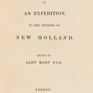 Utopian fiction.- Fox (Lady Mary) Account of an Expedition to the