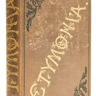 Utopian fiction.- Anonymous. Etymonia, first edition, 1875. Utopian