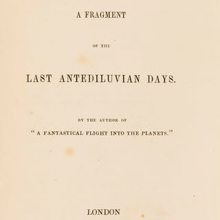 Utopian fiction.- Anonymous. Elmaphil: A Fragment of the Last Antediluvian