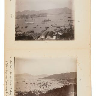 China, Japan & Singapore.- Pair of albums of naval and topographical