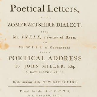 Somerset.- Anstey (Christopher) An Election Ball in Poetical Letters