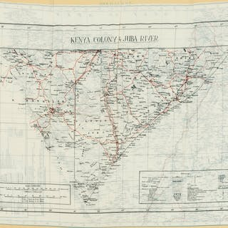 Africa.- Silk map.- Anonymous. Somaliland [recto]; Kenya Colony &