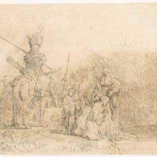 Rembrandt van Rijn (1606-1669)  The Baptism of the Eunuch, Rembrandt
