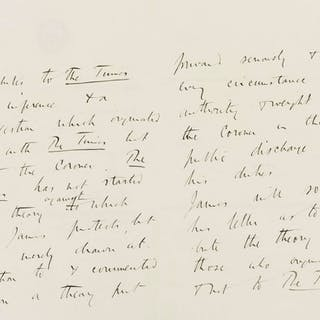 Jack the Ripper.- [Buckle (George Earle)] Autograph Letter third person