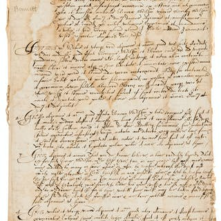 17th century Legal Cases.- Papers relating to legal cases in the Chester