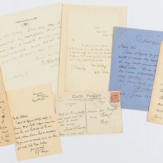 Letters.- , Collection, including: Hilaire Belloc, Alice Meynell