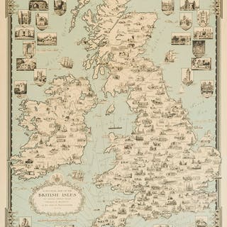 British Isles.- Dudley Chase (Ernest) A Pictorial Map of the British
