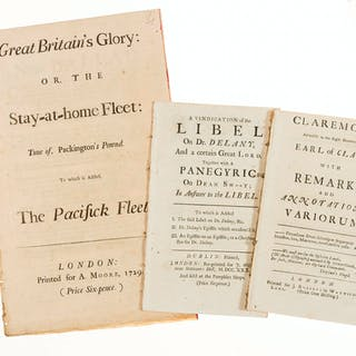 Satires.- Great Britain's Glory: or, the Stay-at-Home Fleet..., 1729;