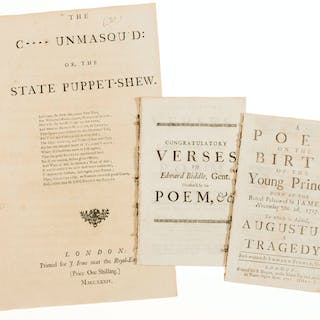 Satires.- The C---- Unmasqu'd: or, The State Puppet-Shew, 1734; and