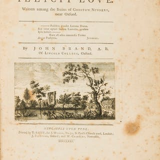 Provincial Printing.- Brand (John) On Illicit Love. Written Among