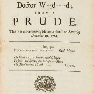 [?Gay (John)] An Epistle to the Most Learned Doctor W--d----d; From