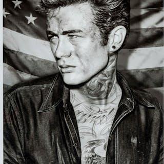 JJ Adams (b.1978) James Dean Tattoo, JJ Adams (b.1978), James Dean Tattoo
