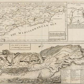 Spain.- Overton (Henry & Hoole, J., publisher ) A Map of the Coast