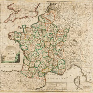 France.- French Revolutionary Wars.- Anonymous () A General Map of