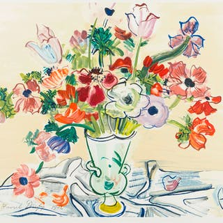 Raoul Dufy (1877-1953) (after) Anémones, Raoul Dufy (1877-1953) (after)