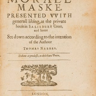 Nabbes (Thomas) Microcosmus. A Morall Maske, Presented with Generall