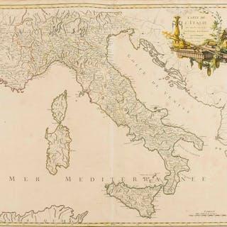 Italy.- Robert de Vaugondy (Gilles, publisher) Carte de l'Italie dans