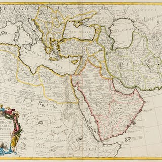 Middle East and Eastern Mediterranean.- De L'Isle (Guillaume) Carte