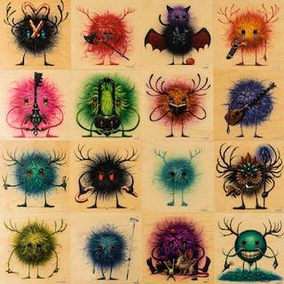Jeff Soto (b.1975) Seeker Friends (sixteen works), Jeff Soto (b.1975)