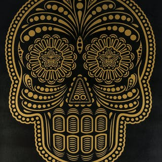 Shepard Fairey (b.1970) and (Ernesto Yerena) Day of the Dead (Dia