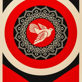 Shepard Fairey (b.1970) Obey Peace Dove (Red), Shepard Fairey (b.1970)