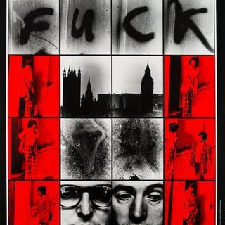 Gilbert and George (b.1943 & 1942) Dirty Word Pictures; Urethra Postcard